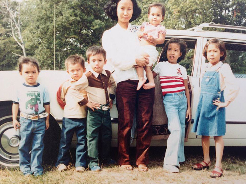 Mony Yin Immigration Story, Perez Morris, family photo from Mony's family's immigration